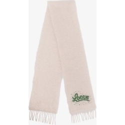 Loewe Womens White Sequin Logo Mohair Wool Scarf found on Bargain Bro UK from Browns Fashion