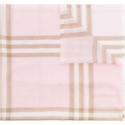 Burberry Pink Lightweight Check Wool Silk Scarf found on Bargain Bro UK from Browns Fashion