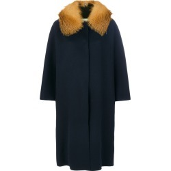Ava Adore fur trimmed cape coat - Blue found on MODAPINS from FarFetch.com - US for USD $1647.00