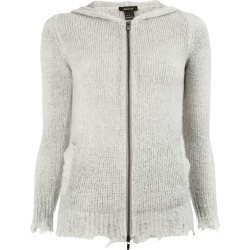 Avant Toi distressed knitted jacket - Grey found on MODAPINS from FarFetch.com- UK for USD $643.30