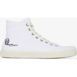 Maison Margiela Mens White Tabi High Top Sneakers found on Bargain Bro UK from Browns Fashion