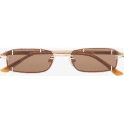 Linda Farrow brown and gold metallic X Y/Project burg tinted sunglasses found on Bargain Bro UK from Browns Fashion