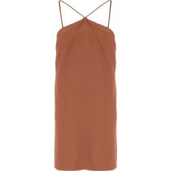 Andrea Marques triangle neck tunic - Capuccino found on MODAPINS from FarFetch.com- UK for USD $221.94