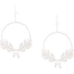 Karen Walker acorn & leaf wreath earrings - Silver found on Bargain Bro UK from FarFetch.com- UK