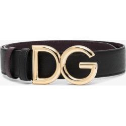 Dolce & Gabbana Womens Black Gold Tone Logo Belt found on Bargain Bro UK from Browns Fashion