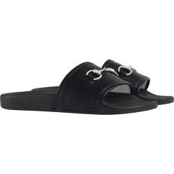 Gucci Kids Children's Horsebit leather slides - Black found on Bargain Bro UK from FarFetch.com- UK for $270.71