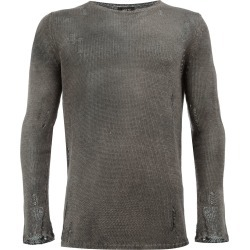 Avant Toi distressed knit jumper - Grey found on MODAPINS from FarFetch.com - US for USD $479.00