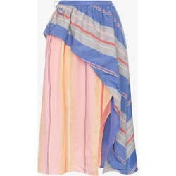 A Peace Treaty Tarouba stripe high waist silk cotton-blend skirt found on MODAPINS from Browns Fashion for USD $198.91