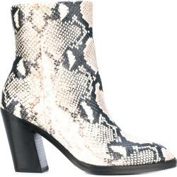 Stuart Weitzman Wynter printed python ankle boots - White found on Bargain Bro UK from FarFetch.com- UK