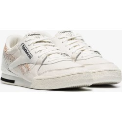 Reebok white Phase 1 low top leather sneakers