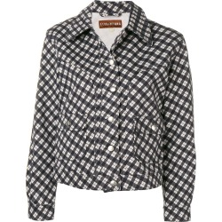 Alexa Chung checked fitted jacket - Blue found on MODAPINS from FarFetch.com - US for USD $460.00