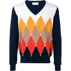 Ballantyne patterned V-neck sweater - Blue found on MODAPINS from FarFetch.com- UK for USD $482.58