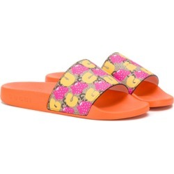 Gucci Kids strawberry pattern slides - Orange found on Bargain Bro UK from FarFetch.com- UK for $176.30