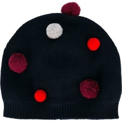 Il Gufo pompom knitted hat - Blue
