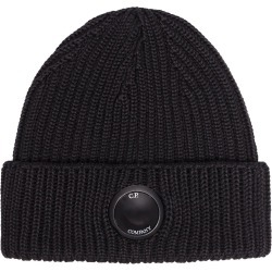 CP Company ribbed knit lens beanie hat - Black found on Bargain Bro UK from FarFetch.com- UK