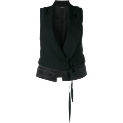 Ann Demeulemeester wrap-around gilet - Black found on MODAPINS from FarFetch.com - US for USD $1181.00