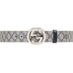 3ab25cbe89e Gucci GG Supreme belt with G buckle - Blue found on MODAPINS from  FarFetch.com