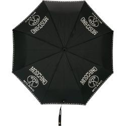 Moschino logo print umbrella - Black