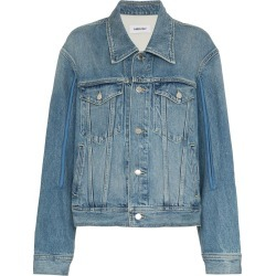 Ambush patchwork denim jacket - Blue found on MODAPINS from FARFETCH.COM Australia for USD $674.11