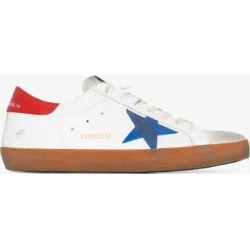 Golden Goose Mens White And Red Superstar Leather Sneakers found on Bargain Bro UK from Browns Fashion