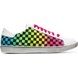 Amiri white Viper rainbow check low-top leather sneakers found on MODAPINS from FARFETCH.COM Australia for USD $221.31