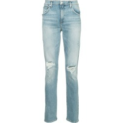 Agolde distressed straight-leg jeans - Blue found on MODAPINS from FarFetch.com- UK for USD $377.84