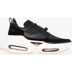 Balmain Womens Black B-bold Leather Sneakers found on Bargain Bro UK from Browns Fashion