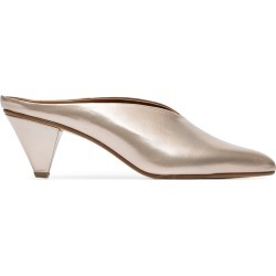 Atp Atelier Gold Nicola 55 Leather Mules - Pink found on MODAPINS from FarFetch.com - US for USD $216.00