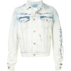 Ground Zero curve-cut sleeve denim jacket - Blue found on MODAPINS from FARFETCH.COM Australia for USD $353.57