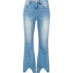 SJYP distressed hem cropped jeans - Blue found on MODAPINS from FarFetch.com- UK for USD $125.80