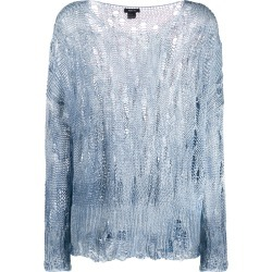 Avant Toi distressed knit jumper - Blue found on MODAPINS from FARFETCH.COM Australia for USD $473.84