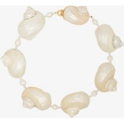 Prada Womens White Gold-plated Oversized Shell Choker found on Bargain Bro UK from Browns Fashion