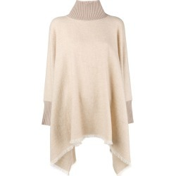 Agnona turtleneck poncho - Neutrals found on MODAPINS from FarFetch.com - US for USD $1381.00