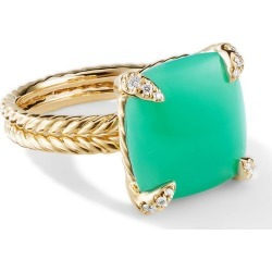 David Yurman 18kt yellow gold Châtelaine chrysoprase and diamond ring found on Bargain Bro India from FarFetch.com - US for $2900.00