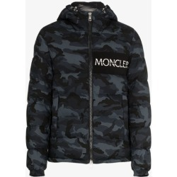 811e90030 Moncler Aiton camo print hooded jacket