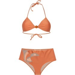 Adriana Degreas cut-out boxer bikini - Orange found on MODAPINS from FarFetch.com- UK for USD $452.34