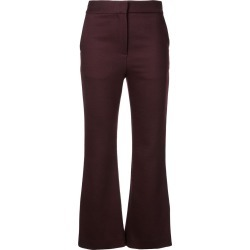 Adam Lippes cropped flared trousers - Burgundy found on MODAPINS from FARFETCH.COM Australia for USD $1116.07