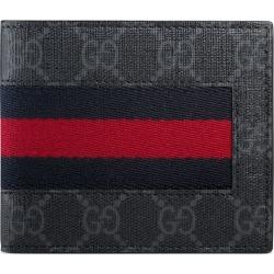 f376b6daf02e Gucci GG Supreme Web wallet - Black found on MODAPINS from FarFetch.com - US