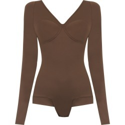 Amir Slama long sleeved bodysuit - Brown found on MODAPINS from FarFetch.com- UK for USD $436.13