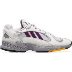 Adidas off-white Yung 1 mesh insert low-top leather sneakers - Grey found on Bargain Bro UK from FarFetch.com- UK for $90.65