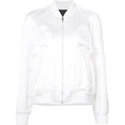 Alexander Wang palm tree embroidered bomber jacket - White found on MODAPINS from FarFetch.com - US for USD $897.00