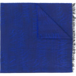 Armani Jeans jacquard logo scarf - Blue found on MODAPINS from FARFETCH.COM Australia for USD $125.85