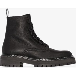 Proenza Schouler black Leather Lace Up Boots found on Bargain Bro UK from Browns Fashion