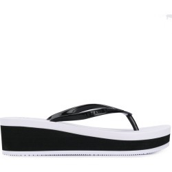 Armani Exchange wedge flip flops - Black found on MODAPINS from FarFetch.com- UK for USD $83.58