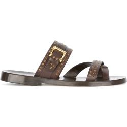 Louis Leeman slider sandals - Brown