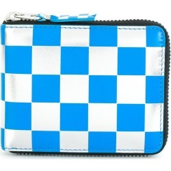 Comme Des Garçons Wallet checkered zipped wallet - Blue found on MODAPINS from FarFetch.com - US for USD $222.00