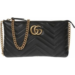 7cf16a8f55c Gucci GG Marmont wallet on chain - Black found on MODAPINS from  FarFetch.com -
