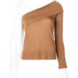 Adeam contrast long-sleeve sweater - Brown found on MODAPINS from FARFETCH.COM Australia for USD $1099.10