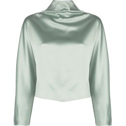 Sally Lapointe oversized mock-neck top - Green found on Bargain Bro Philippines from FARFETCH.COM Australia for $819.79