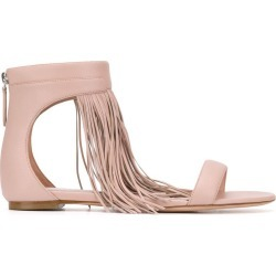 Alexander McQueen fringed flat sandals - Pink found on Bargain Bro UK from FarFetch.com- UK